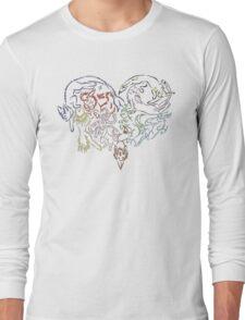 Tribal Eeveeloutions heart Long Sleeve T-Shirt