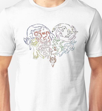Tribal Eeveeloutions heart Unisex T-Shirt