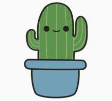 Cute cactus in blue pot Kids Tee