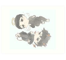 Ritsu & Mob Art Print