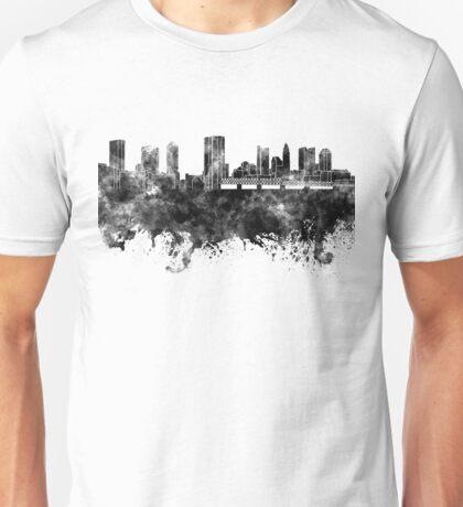 Columbus skyline in black watercolor on white background Unisex T-Shirt