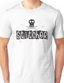 Crafty Kitsch - Stitcher (black text) Unisex T-Shirt