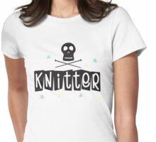 Crafty Kitsch - Knitter (black text) Womens Fitted T-Shirt
