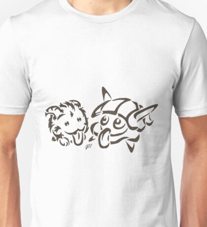 Tribal poro and #090 water Unisex T-Shirt