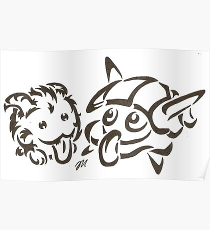 Tribal poro and #090 water Poster