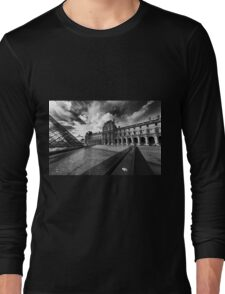 Transitions – Louvre Pyramid, Paris, France Long Sleeve T-Shirt
