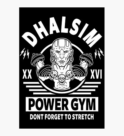 Street Fighter, Dhalsim Power Gym Photographic Print
