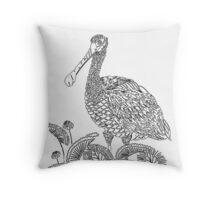 Modern Blck and White Duck Home Decor Art Throw Pillow