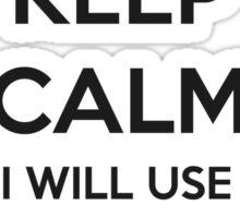 TEACHER GIFT IDEAS - Keep Calm Sticker