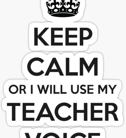 TEACHER GIFT IDEAS - Keep Calm Sticker