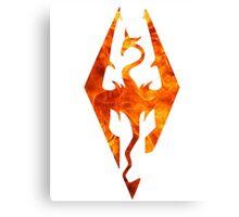 Skyrim in flames Canvas Print