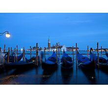 sleeping gondolas Photographic Print