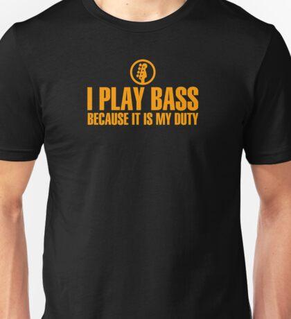 I Play Bass (orange) Unisex T-Shirt