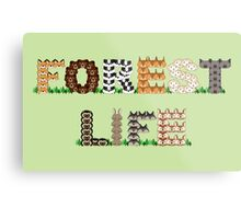 Forest Life - Just a bunch of rather cute animals Metal Print