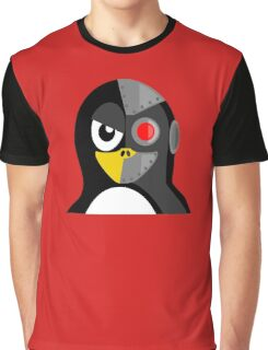 Cyborg Penguin Artwork for Blackhats and Geniuses Graphic T-Shirt