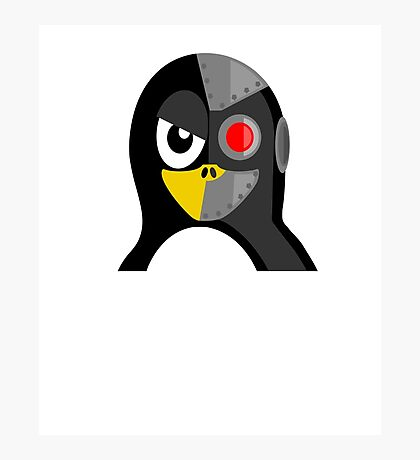 Cyborg Penguin Artwork for Blackhats and Geniuses Photographic Print
