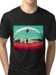 no mans sky kuning 2 Tri-blend T-Shirt