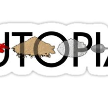 Utopia - Utopia title Sticker