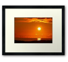 Sunset from Colonsay Framed Print