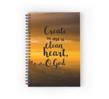 Psalm 51:10 Spiral Notebook