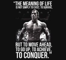 Arnold Schwarzenegger Arnie Conquer Quote by King84