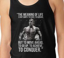 Arnold Schwarzenegger Arnie Conquer Quote Tank Top