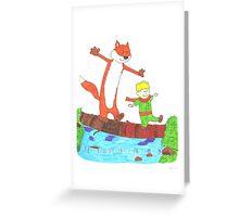 El Principito (Calvin and Hobbes) Greeting Card