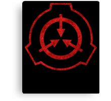 SCP foundation symbol red  Canvas Print