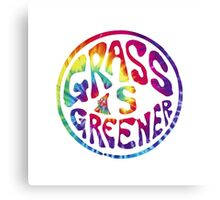 Grass is Greener Tye Dye Canvas Print
