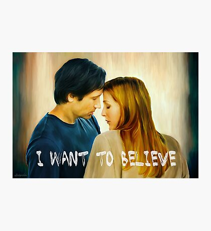 I Want To Believe oil color painting Photographic Print