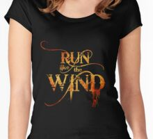 Run like the Wind   (Fire Version) Women's Fitted Scoop T-Shirt