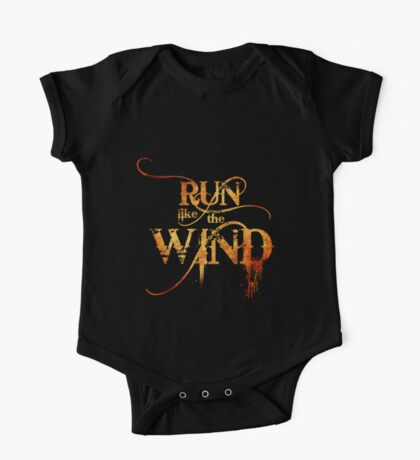 Run like the Wind   (Fire Version) One Piece - Short Sleeve