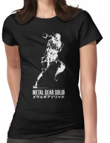 Metal Gear Solid - Snake Womens Fitted T-Shirt