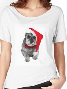 Schnauzer Santa Women's Relaxed Fit T-Shirt