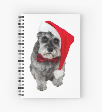 Schnauzer Santa Spiral Notebook