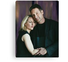 Gillian Anderson and David Duchovny oil color painting  Canvas Print