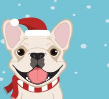 Frenchie Waiting for Santa - Cream Edition Sticker