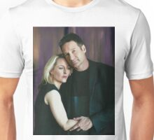 Gillian Anderson and David Duchovny oil color painting  Unisex T-Shirt