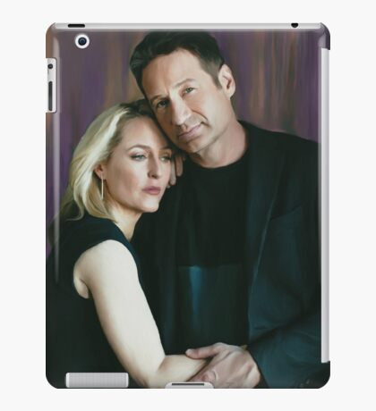 Gillian Anderson and David Duchovny oil color painting  iPad Case/Skin