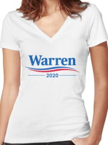 ELIZABETH WARREN 2020 Women's Fitted V-Neck T-Shirt