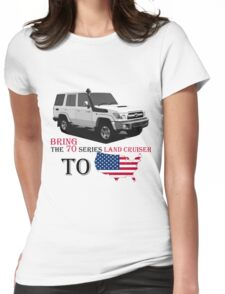 TOYOTA 70 Series Land Cruiser Womens Fitted T-Shirt