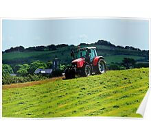 Mowing on the Hill Poster