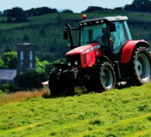 Mowing on the Hill Sticker