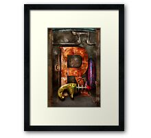 Steampunk - Alphabet - R is for Ray Gun Framed Print