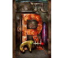 Steampunk - Alphabet - R is for Ray Gun Photographic Print
