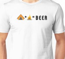 Camping + Campfire = Beer Unisex T-Shirt
