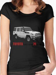 TOYOTA Land Cruiser 70 Series HZJ76 Women's Fitted Scoop T-Shirt