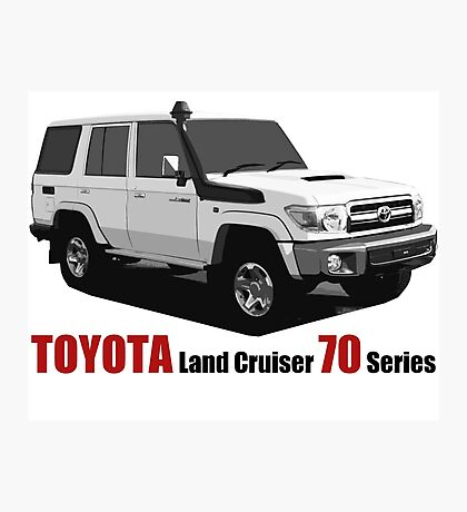 TOYOTA Land Cruiser 70 Series HZJ76 Photographic Print