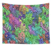 Colorful Chaotic Abstract Wall Tapestry