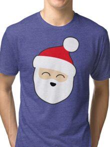 Smiling Santa Tri-blend T-Shirt